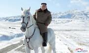 فیلم | رهبر کره شمالی سوار بر اسب در کوه مقدس