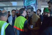 گفتوگوی حناچی با پاکبانهای تهرانی خادم در نجف | بازدید از محل اسکان خادمالحسین