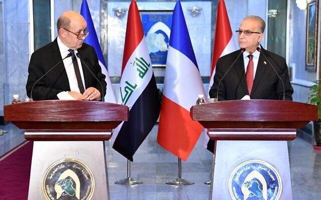 وزراي خارجه عراق و فرانسه