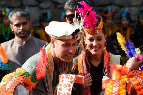 شاهزاده ویلیام و همسرش کیت میدلتون در سفر به پاکستان