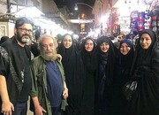 عکس | شقایق فراهانی، نیلوفر شهیدی و مسعود فراستی در کربلا