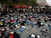 تظاهرات زنان فرانسوی در اعتراض به خشونت خانگی | عذرخواهی و حمایت مکرون از زنان