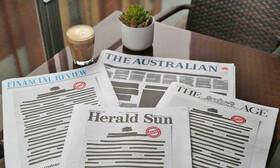 اعتراض به تحدید آزادی بیان | صفحه اول روزنامههای استرالیا سیاه شد