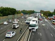 تصادف زنجیرهای ۷ خودرو در ژاپن