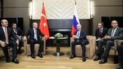 پوتین در دیدار با اردوغان: وضعیت سوریه دشوار است