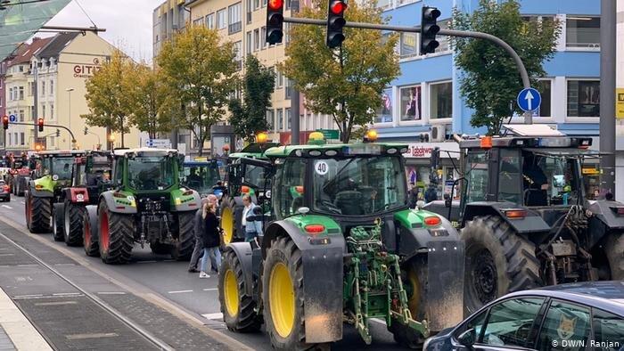 اعتراض تراكتوردارهاي آلمان