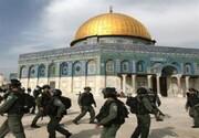 نظامیان صهیونیست باب الرحمه مسجدالاقصی را بستند