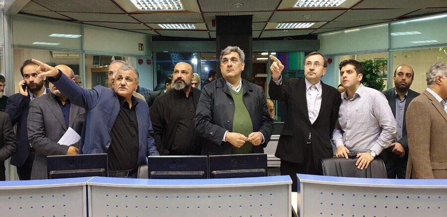 حضور حناچی در مرکز کنترل ترافیک شهر تهران