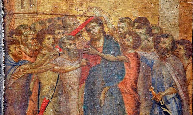 تابلوي تمسخر مسيح