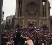 فیلم | اجرای سرود تاریخی «مردم متحد هرگز شکست نمیخورند» در اعتراضات شیلی