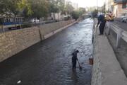 لایروبی و رسوببرداری ۲۲ نهر و مسیل در شمال شرق پایتخت