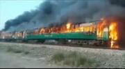 ۶۴ کشته در حریقِ قطار مسافربری در پاکستان
