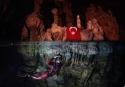 عکس روز: غواصی آزاد یک زن درون غار