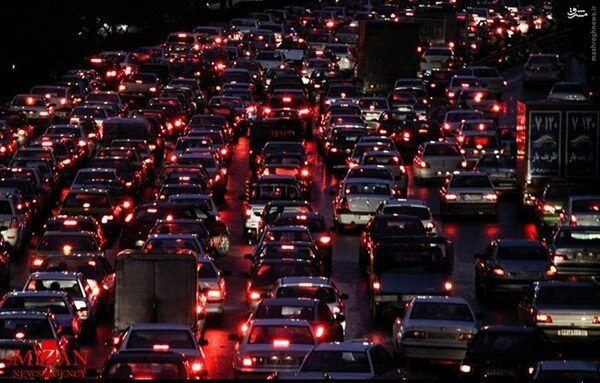 ترافیک بزرگراههای تهران