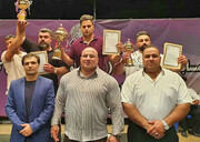 نتایج رقابتهای پاورلیفتینگ بدون لوازم اعلام شد