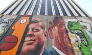 عکس | قطعهای از دیوار برلین در لسآنجلس