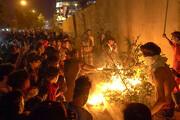 فیلم | اغتشاشگران کنسولگری ایران در نجف را آتش زدند