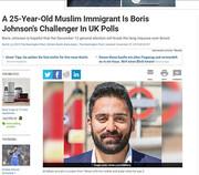جوان ایرانی رقیب بوریس جانسون در انتخابات | فقط ۵ درصد فاصله