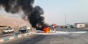 مرگ یک خانواده شش نفری در آتشسوزی پس از تصادف