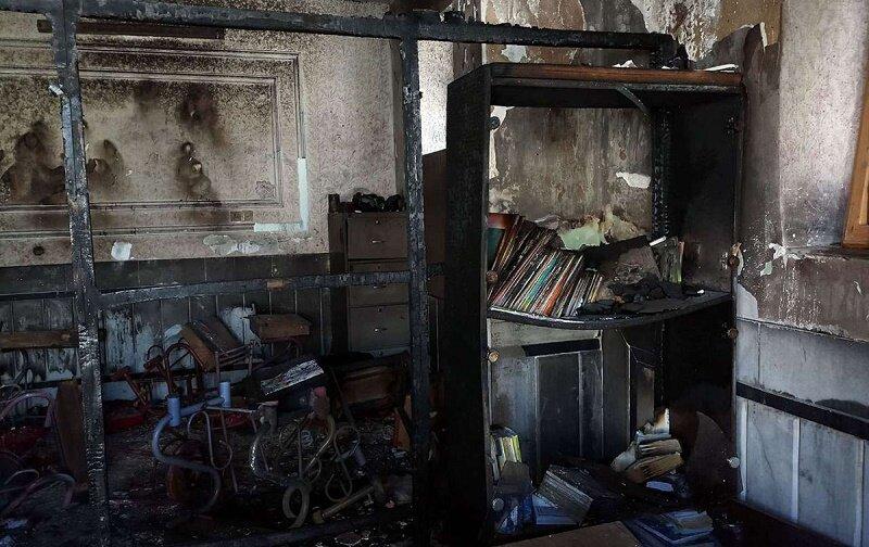 آتشسوزی مدرسه زاهدان