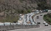 محور هراز مسدود شد | ترافیک سنگین در ورودی تهران