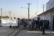 تجمع اعتراضآمیز کارگران فاز ۲ پالایشگاه آبادان