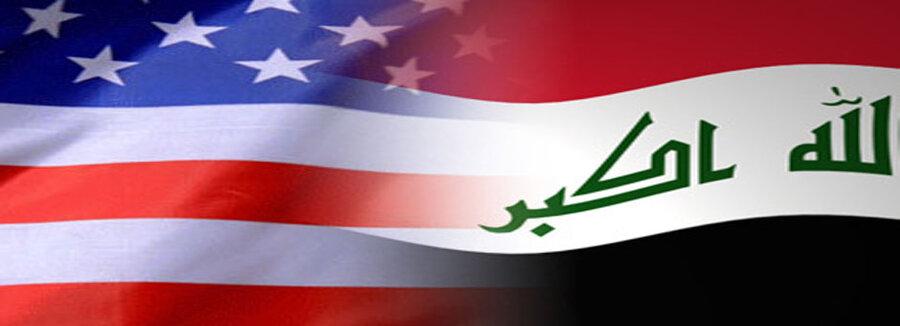 پرچم عراق و آمريكا