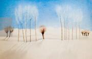 گزارشی از نمایشگاه نقاشیهای عباس کیارستمی در گالری گلستان