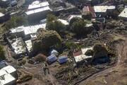 تصاویر هوایی از مناطق زلزلهزده ورنکش و ورزقان