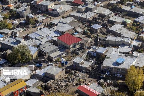 تصاوير هوايي زلزله