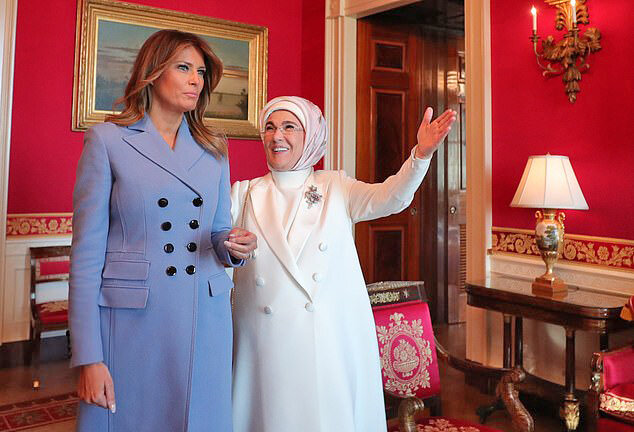 ملانيا ترامپ و امينه اردوغان در كاخ سفيد