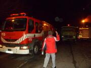 مصدومیت سه آتشنشان در پی تصادف تریلی با خودروی آتشنشانی