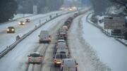 برف سنگین در فرانسه | یک کشته و قطع برق ۳۰۰ هزار خانواده