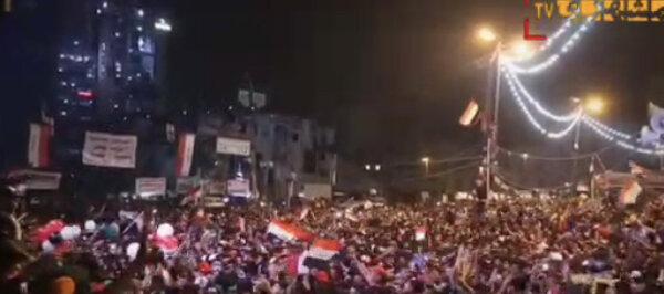 فیلم | میدان التحریر ؛ شادی عراقیها پس از شکست ایران
