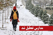 بارش برف مدارس برخی مناطق کوهستانی مازندران را تعطیل کرد