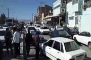 تجمع مردم استان البرز در اعتراض به گران شدن بنزین | مردم خودروها را خاموش کردند