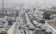 فیلم | برف دلیل ترافیک تهران بود؟