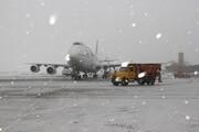 وضعیت پروازهای ۲ فرودگاه پایتخت در نخستین برف پاییزی | تاخیر برخی پروازهای مهرآباد