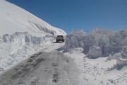 ارتفاع برف در گردنه چری به ۷۰ سانتیمتر رسید
