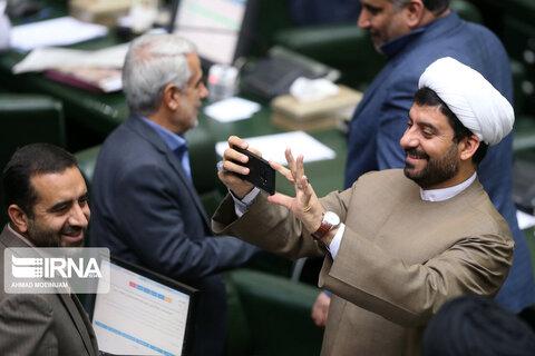 لحظاتی متفاوت در جلسه علنی مجلس