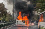 اولین تصاویر رسمی یکی از نقاط بحرانی در اعتراضات بنزینی