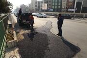 مرمت معابر تخریب شده در قلب پایتخت