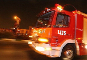 آتشسوزی ساختمان تجاری در خیابان اکباتان