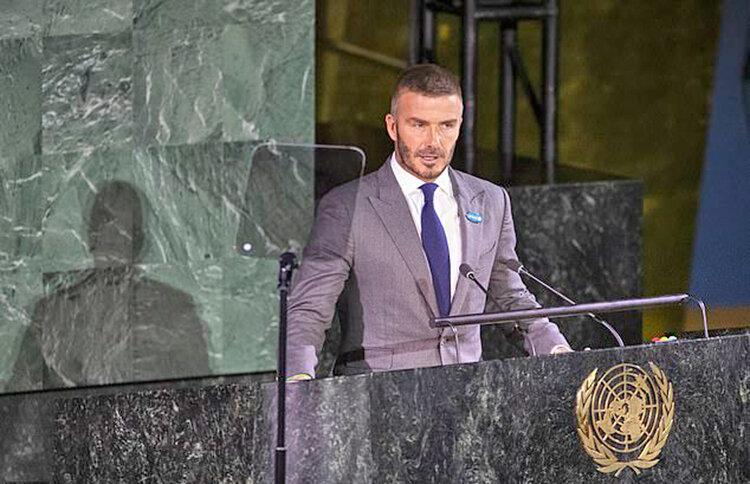 ديويد بكام در سازمان ملل