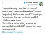 واکنش وزیر ارتباطات به تحریم آمریکا | توسعه ایران متوقف نمیشود