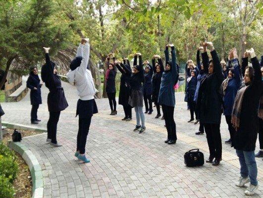 ورزش همگاني زنان در بوستان ها