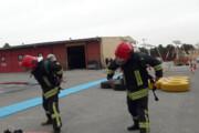 آزمون عملی استخدام مشاغل آتشنشانی برگزار شد