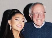 عکس روز | حمایت آریانا گرانده از برنی سندرز در انتخابات