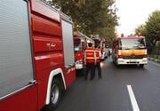 استقرار آتشنشانان در مسیر راهپیمایی محکومیت اغتشاشات تهران