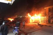 فیلم | کنسولگری ایران در نجف بعد از حمله